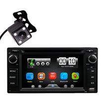 Universal 2Din in Dash Car DVD MP3 MP4 Video Player Radio Bluetooth Kit Head Unit Stereos Monitor Screen with Reverse Parking Camera for Toyota Corolla EX Rav4 Camry VIOS Echo by HitCar (Without GPS)