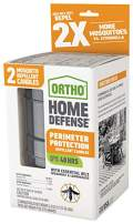 Ortho Home Defense Perimeter Protection Repellent Candles - Repel Mosquitoes with Essential Oils, Create a Perimeter of Protection, Fresh Citrus Scent, Includes 2 Candles, 4.5 oz. Each