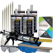 Concrete Floor Crack Repair Kit - Ultra Low Viscosity Polyurethane - FLEXKIT-1350-40
