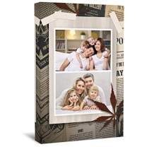 """wallart777 Personalized Multi Photo Canvas Wall Art Photo Print with Your Photos Personalized - Canvas Wall Art for Living Room, Bedroom Canvas Prints for Home Decoration (Style-36, 8"""" x 12"""")"""