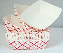 Tytroy 50- Pack Disposable Cardboard Paper Food Serving Food Trays Boat Baskets, 1 Pound