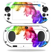 MightySkins Skin Compatible with Sony PS Vita (Wi-Fi 2nd Gen) wrap Cover Sticker Skins Rainbow Smoke