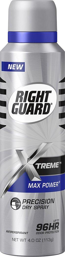 Right Guard Antiperspirant Dry Spray Deodorant, Max Power, 4 Ounce