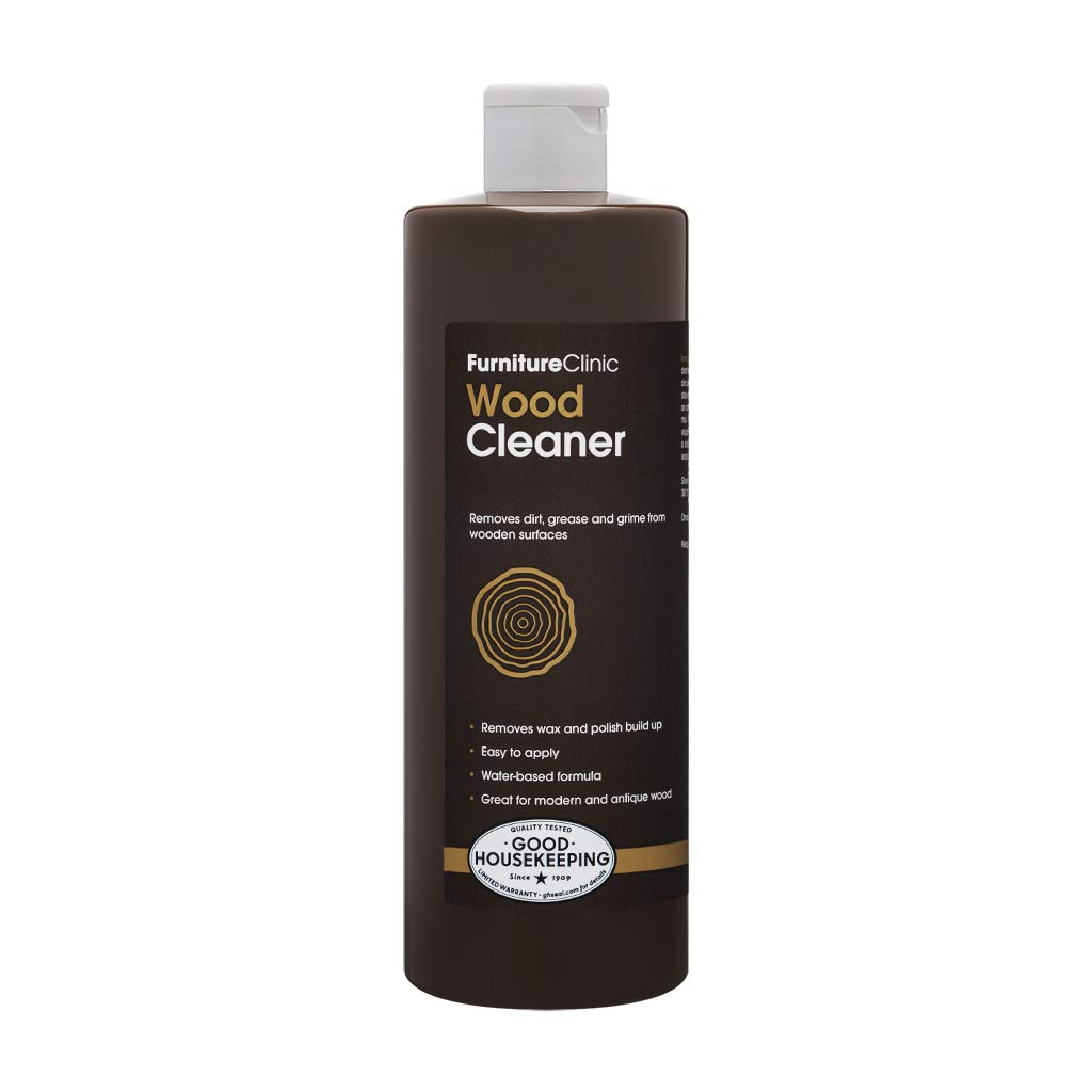 Furniture Clinic Wood Cleaner (17 oz, 500ml) | Restore & Spot Clean Hardwood Flooring, Blinds, Doors, Decking and Many Other Wood Surfaces - Easily Remove Wax & Polish Build up, Grease and Grime