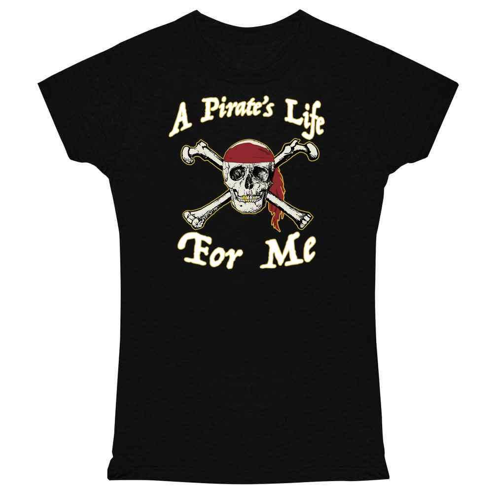Pop Threads A Pirate's Life for Me Skull Halloween Costume Graphic Tee T Shirt for Women