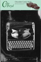 Cybrtrayd Life of the Party J044 Large Typewriter Chocolate Candy Mold in Sealed Protective Poly Bag Imprinted with Copyrighted Cybrtrayd Molding Instructions