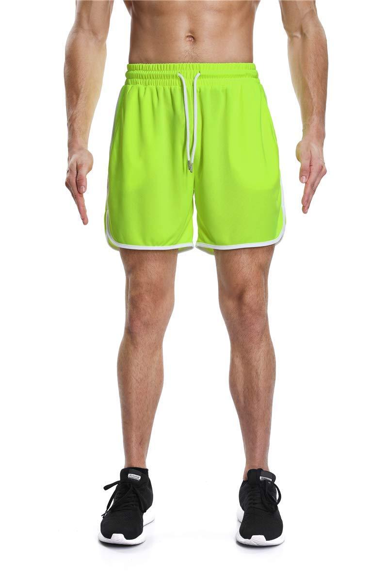 LETAOTAO Mens Athletic Running Shorts Performance Workout Shorts Pockets