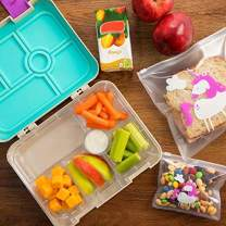 Unicorn Lunch Box Combo for Kids - Bento-Style Boxes with Food Storage Containers - Purple - Great For Meal Prep and Portion Control - Divider Trays for Storing Snacks