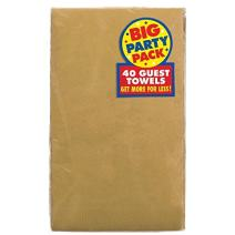 Amscan Premium Pack 2‑Ply Guest Towels, Paper Napkins, One Size, Gold Big Party