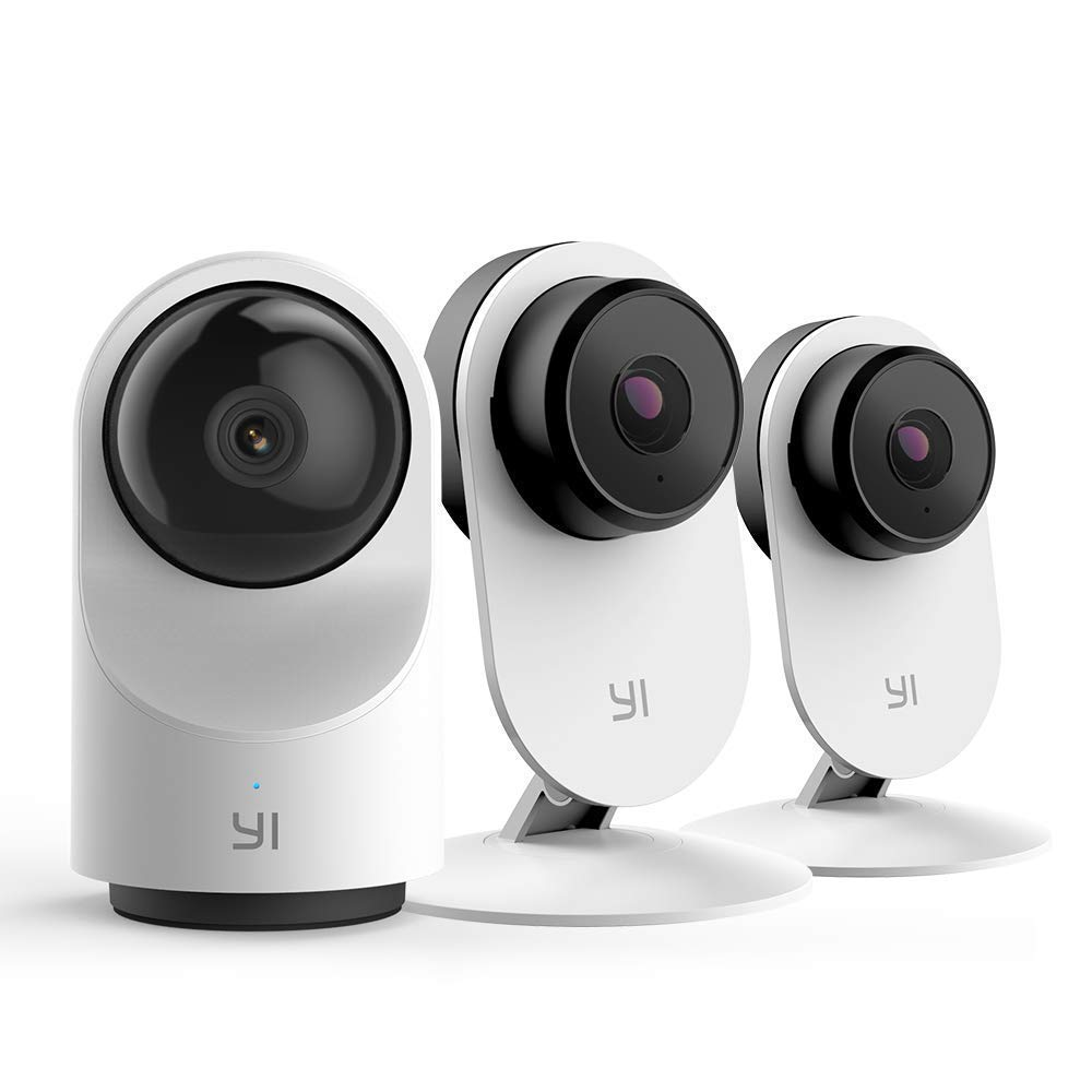 YI 1080P Indoor Security Camera Bundle Set, 2.4G WiFi Home Surveillance System with 24/7 Emergency Response, App/Cloud Service Available for Advanced Features-Smart dome camera X and 2pc home camera 3