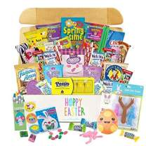 Order Today - Get It By EASTER! Easter Care Package (50ct) - Candy, Snacks, Toys, Plush Egg, Chocolate - Kids, Adults, Boys, Girls, College Student, Child, Toddlers (50ct Large - Orange)