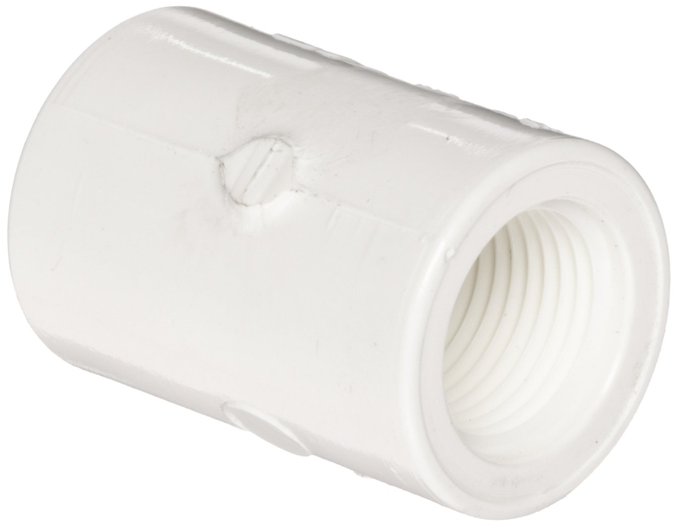 """Spears 435-007 PVC Pipe Fitting, Adapter, Schedule 40, White, 3/4"""" Socket x NPT Female (Pack of 10)"""