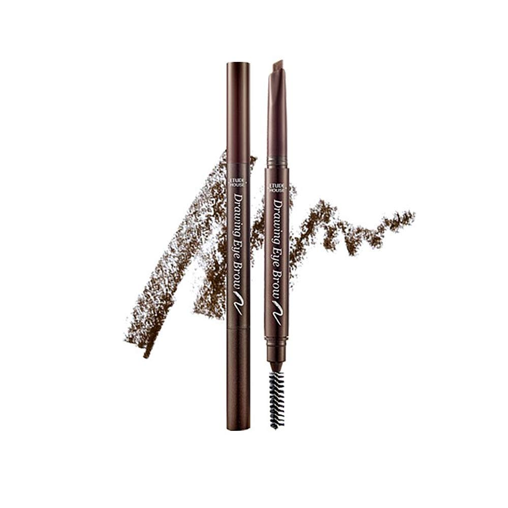 ETUDE HOUSE Drawing Eye Brow #3 Brown | Long Lasting Eyebrow Pencil for Soft Textured Natural Daily Look Eyebrow Makeup