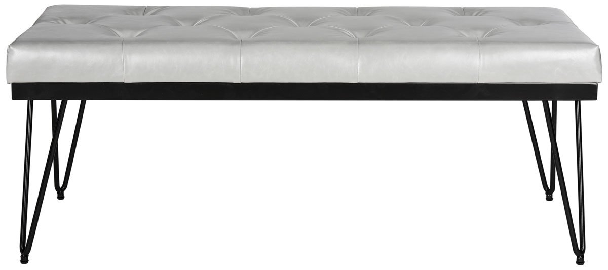 Safavieh Home Collection Marcella Grey and Black Bench