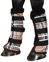 Kensington Protective Products Fly Boots with Fleece Trim, Horse Leg Guard, Protection from UV Rays, Insect Bites, Dirt, Debris and Injury, with Stay-Up Technology (Sold in Pairs - 2 Boots)