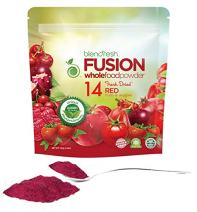 Superfood Whole Food Powder | 14 RED Fruits & Vegetables | Vegan. Gluten Free. Non-GMO | Supports a Healthy Heart, Bladder, and Immunity | 2,000 Phytonutrients/Serving | by Blendfresh.