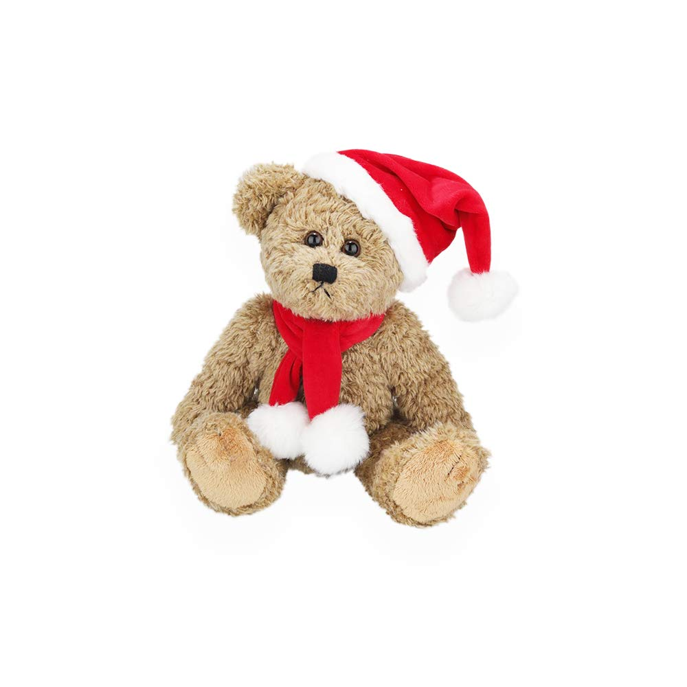 Plushland Santa Christmas Oatmeal Bear - Best Holiday Toy Gift for Kids