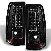 For 99-02 Chevy Silverado 09-03 GMC Sierra Pickup Truck Black G2 LED Tail Lights Brake Lamps Replacement