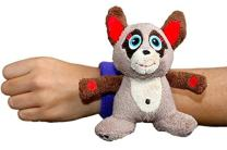 Critter Cuffs On-The-Go Stuffed Meerkat with Reversible Wristband | Super Soft Plush Stuffed Animal | Perfect Travel Toy for Toddlers | No Beads or Buttons | Machine Washable