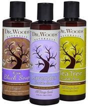 Dr. Woods Liquid Castile and Black Soap with Organic Shea Butter Variety (3 Assorted 8 Ounce Bottles)
