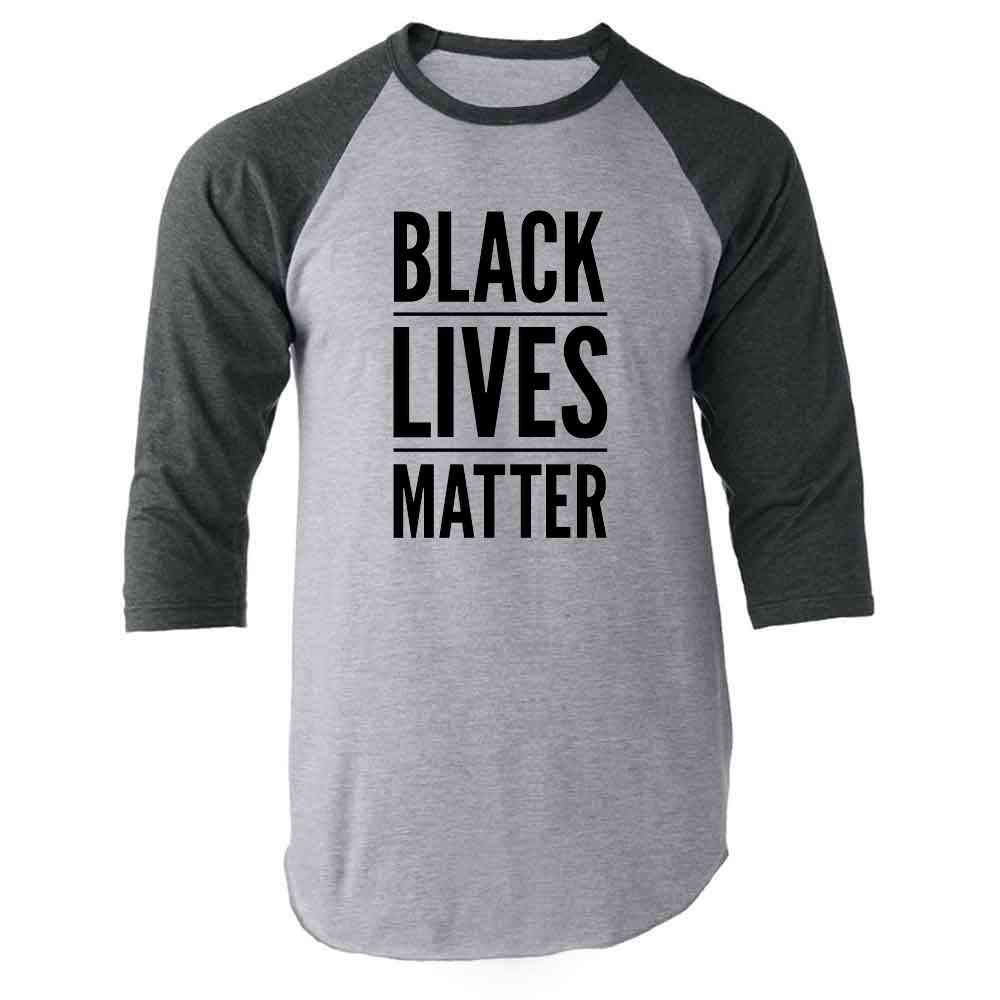 Black Lives Matter Raglan Baseball Tee Shirt