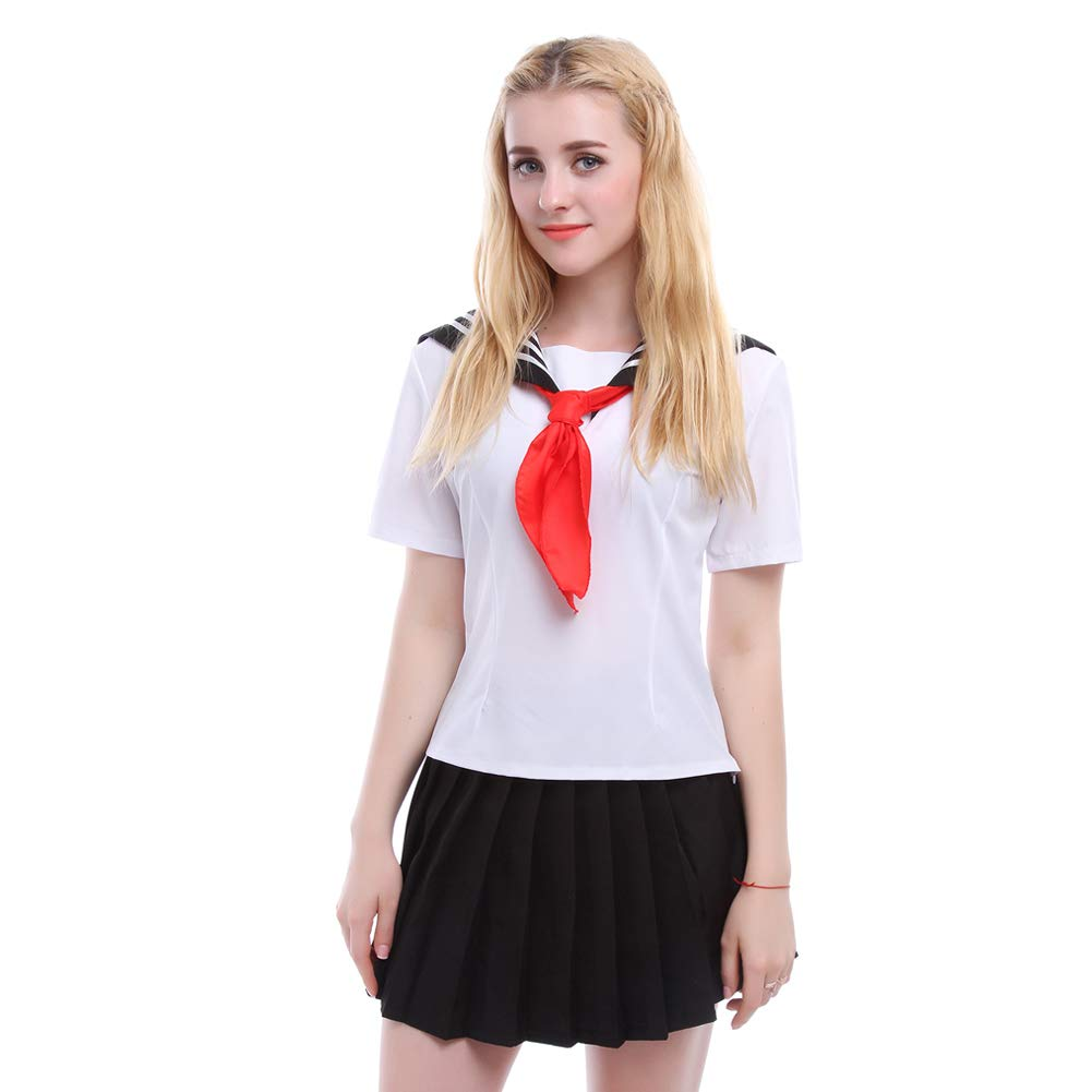 Nuoqi Japanese School Uniform Girls Anime Yandere Simulator Cosplay Sailor Costume