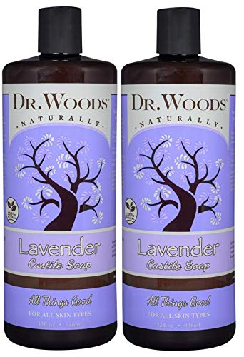 Dr. Woods Pure Relaxing Lavender Liquid Castile Soap, 32 Ounce (Pack of 2)