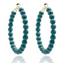 ZENZII Colorful Beaded Big Circle Hoop Fashion Earrings for Women