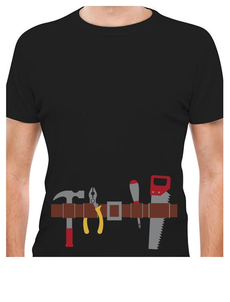 Workman Tool Belt Halloween Handyman Costume T-Shirt