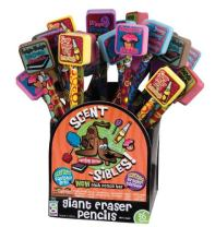 Geddes Scent-sibles Pencil with Giant Eraser Topper Assortment - Set of 36