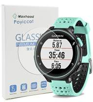 Garmin Forerunner 235 225 630 620 220 230 Screen Protector Glass, Poyiccot Real 0.3mm Premium 2.5D Watch Tempered Glass Screen Protector Glass Film for Garmin Forerunner 235 225 630 620 220 230