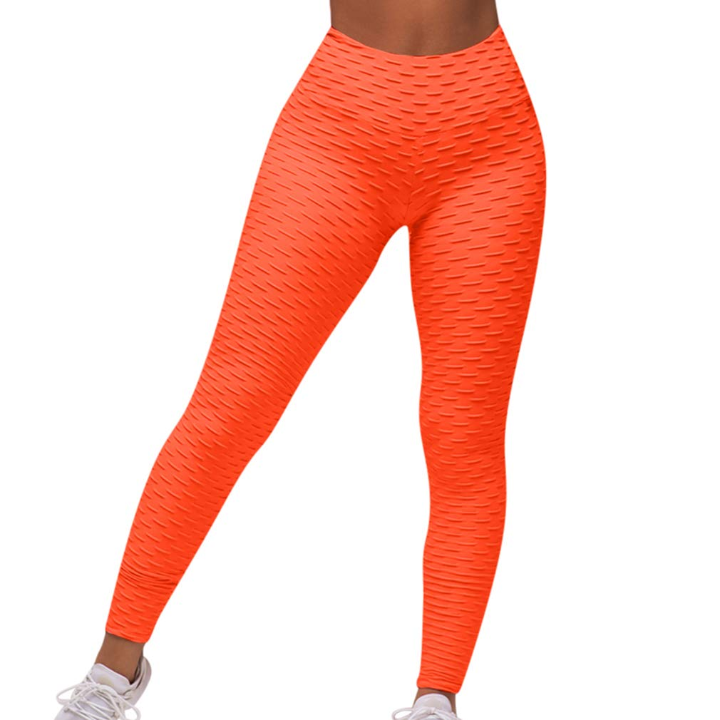 RUUHEE Women High Waisted Tummy Control Yoga Leggings Butt Ruched Lifting Capris