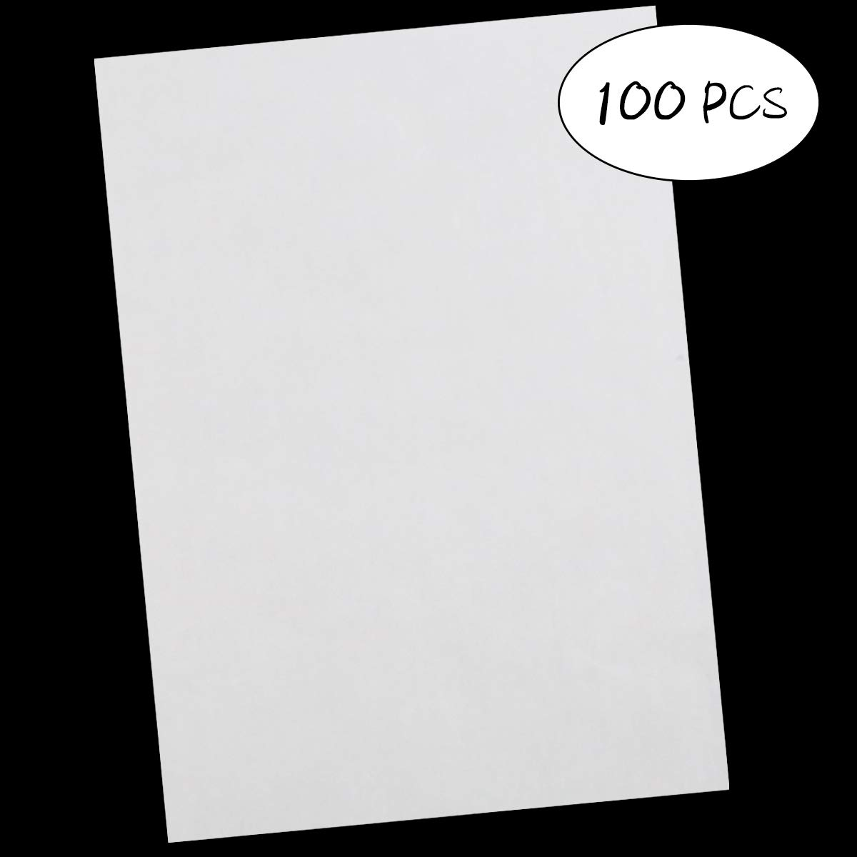 """100 Pcs Carbon Transfer Paper Tracing Paper 11.7""""×8.3"""" for Transfer Pattern on Wood, Paper, Canvas (White)"""