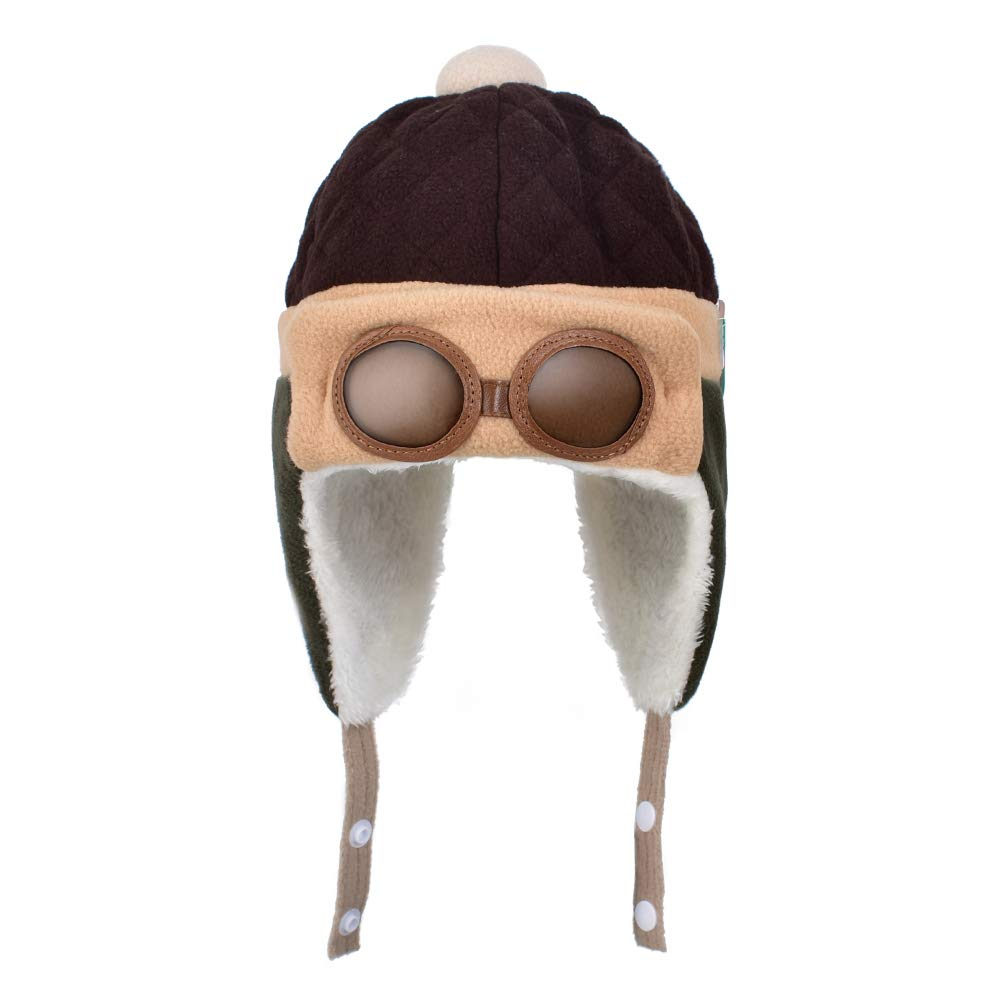 huianer Soft Warm Winter Hat for Baby Kid Boys Girls, Theme Party, Photography Props(Brown-1)