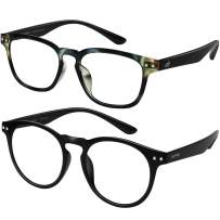 EFE Blue Light Blocking Computer Glasses 2 Pack,Gaming/TV/Phones Lightweigh Quality Comfort Glasses for Women Men [Anti Eyestrain, Reduce Headache & Better Sleep] (Camo+Black)