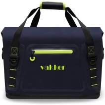 VAKKER 36Can Large Insulated Cooler Bag, 3 Days Ice Life, Waterproof, Leakproof, Dustproof Portable Soft Side Cooler Bag, Lunch Box for Outdoor, Hiking, Travel, Camping, Picnic (36 Cans, Navy Blue)