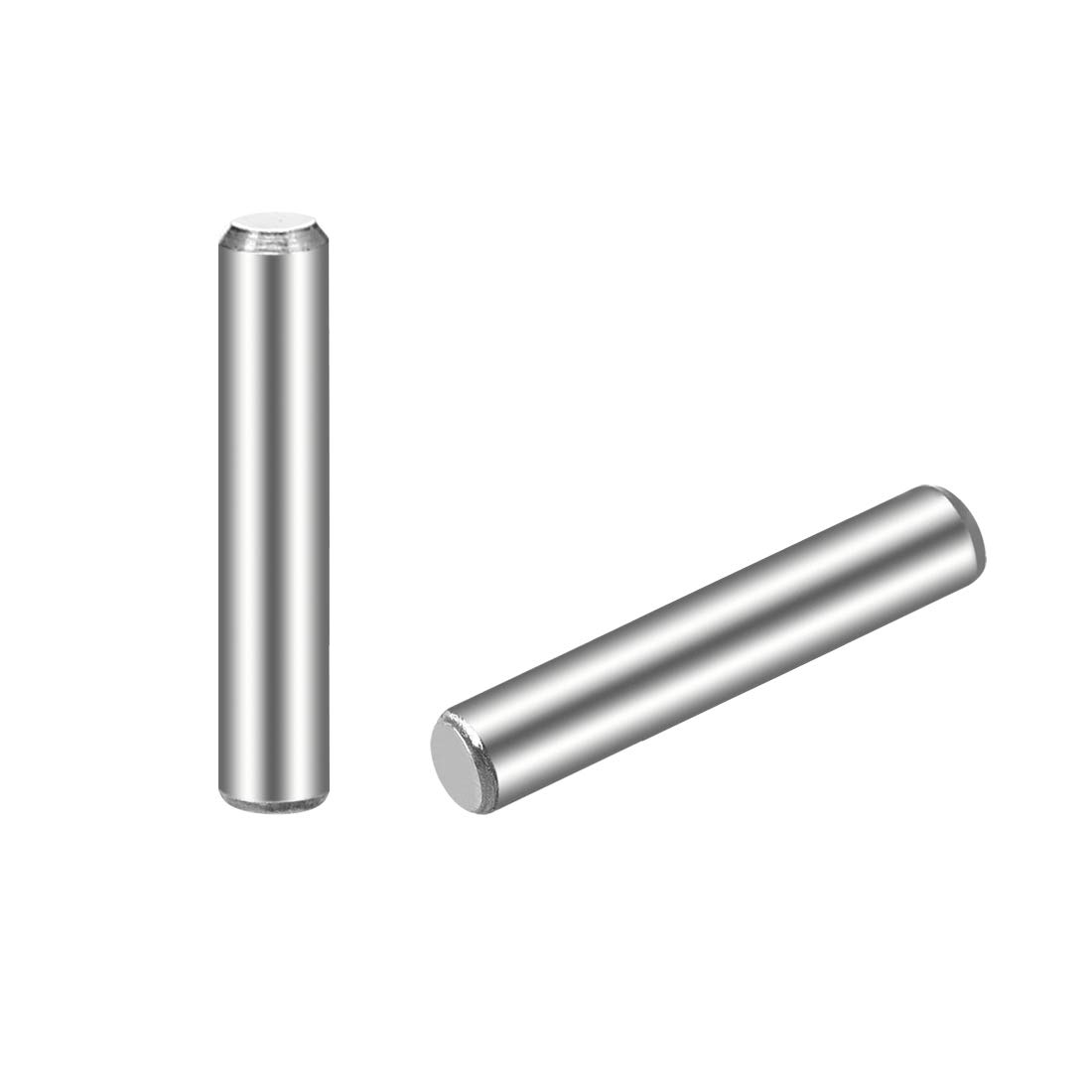 """uxcell 3 x 16mm(Approx 1/8"""") Dowel Pin 304 Stainless Steel Wood Bunk Bed Dowel Pins Shelf Pegs Support Shelves 25Pcs"""
