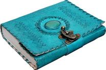 Mangalmurti handicrafts Writing Notebook - Antique Handmade Leather Bound Daily Notepad For Men & Women Unlined Paper Medium 7 x 5 Inches, Best Gift for Art Sketchbook,Travel Diary
