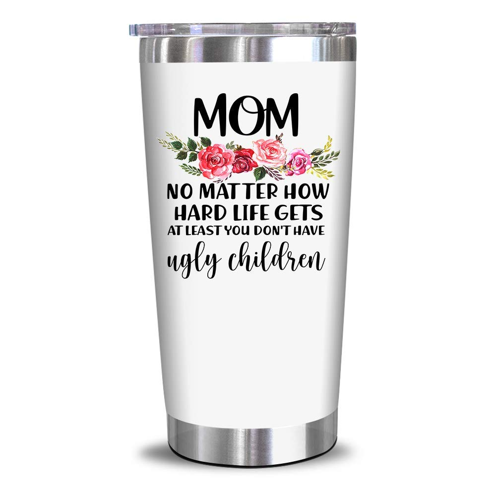 Gifts For Mom From Daughter, Son - Birthday Gifts For Mom - Mothers Day Gifts For Mom, Wife, Women - Funny Birthday Presents From Daughter, Son, Husband - 20 0z Tumbler