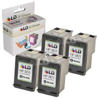 LD Remanufactured Ink Cartridge Replacement for HP 901 CC653AN (Black, 4-Pack)