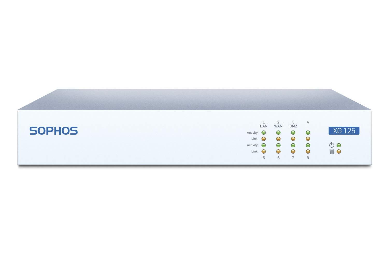 Sophos XG 125 Rev.2 TotalProtect 2 YR Bundle VPN Firewall Appliance and FullGuard License 2 Year