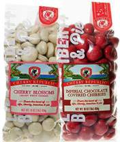 Cherry Republic Variety Imperial & White Chocolate Cherries - Authentic & Fresh Imperial & White Chocolate Covered Cherries from Michigan - White Chocolate & Red Cherry Chocolate - 2 x 16 Ounces