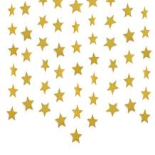 Lacheln Star Party Decorations Birthday Baby Shower Christmas Hanging Paper Garland (Glitter Gold,26 Feet)