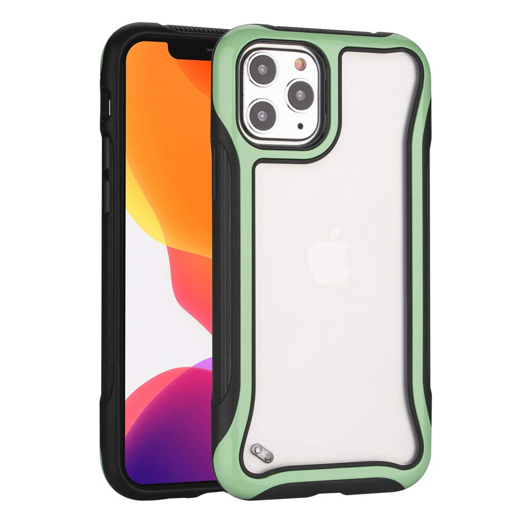 Esing Compatible with iPhone 11 Pro Case Full-Body Rugged Heavy Duty TPU Bumper&Frosted Transparent Anti-Scratched PC Cover (Mint Green)