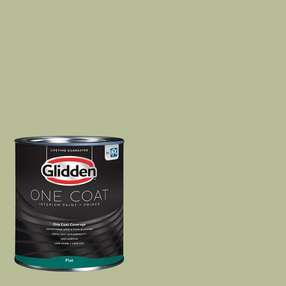 Glidden Interior Paint + Primer: Sage/Bahia Grass, One Coat, Flat, 1-Quart