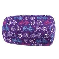 """Bookishbunny Home Office Chair Car Seat Cushion Micro Bead Roll Pillow 7"""" x 12"""" Head Neck Back Body Comfort (Bicycle)"""