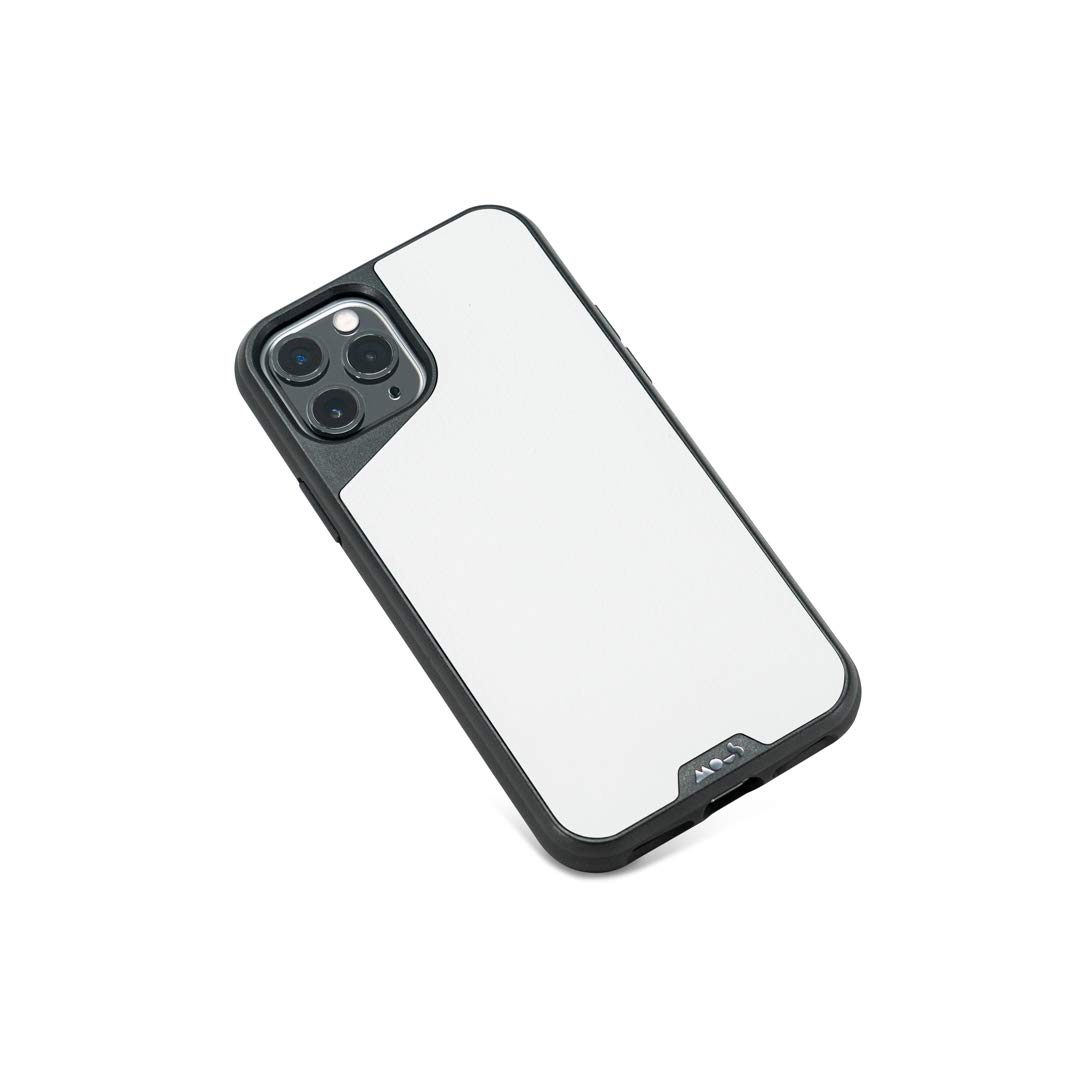 Mous - Protective Case for iPhone 11 Pro - Limitless 3.0 - White Leather - No Screen Protector