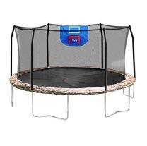 Skywalker Trampolines 15 Foot Jump N Dunk Round Trampoline with Enclosure-Basketball