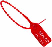 "Aviditi SE1008""Tug Tight"" Pull-Tight Seals, 12"", Red (Pack of 100)"
