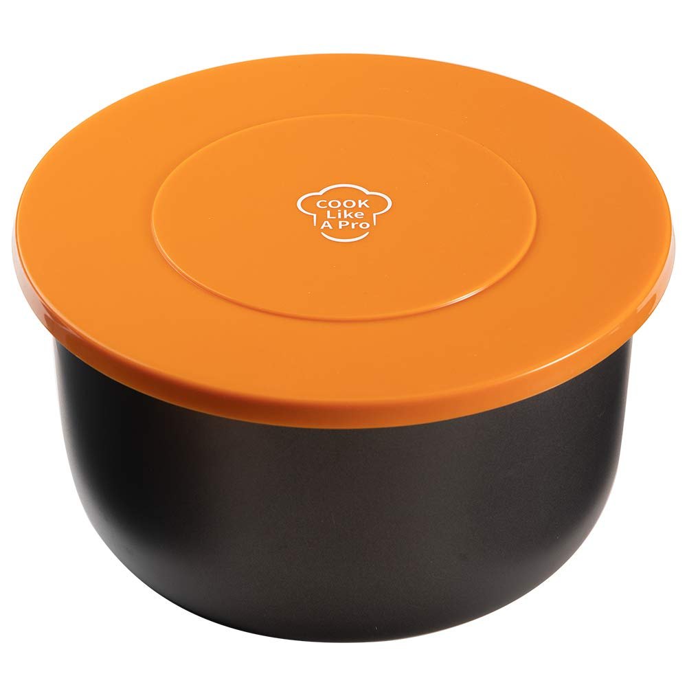 Goldlion Silicone Lid Inner Pot Cover Accessories Compatible with Ninja Foodi Pressure Cooker and Air Fryer 5 Quart 6.5 Quart and 8 Quart, Orange